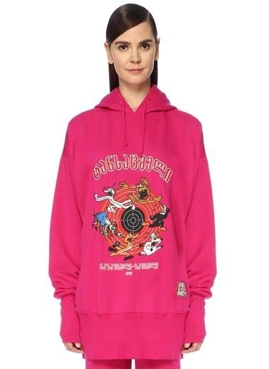 Vetements Sweatshirt Pembe